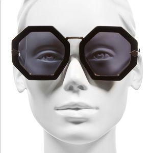 KAREN WALKER (EUC) Moon Disco Octagonal Sunglasses